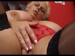 Busty BBW Keira gets a large..
