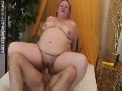 Fat Mature Has Fun