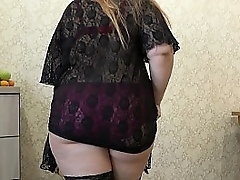 BBW in stockings inserts..