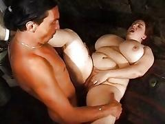 Mature BBW boned around the..