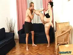Beamy flexible tot fucked