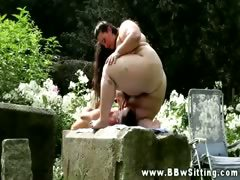 BBW drowns his face in all..