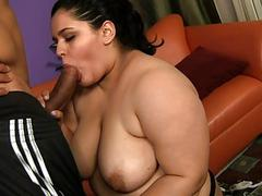 Fat getting roped and fucked..
