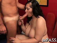 Chubby girl gets nailed well