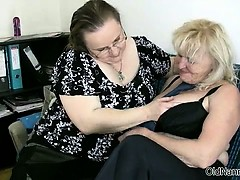 Two lovely lesbians mature..